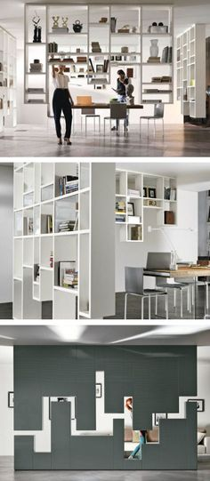 Divider wall-mounted storage wall 30mm / LAGOLINEA WEIGHTLESS by Lago