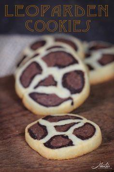 Leoparden Kekse mit Mandeln und Kakao :)