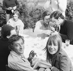 Serge et Jane lors d'un dîner à Deauville, en 1969.