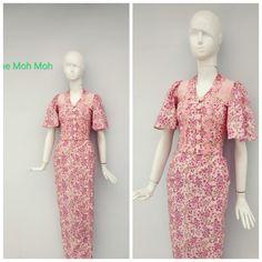 Traditional Dresses Designs, Myanmar Traditional Dress, Rajputi Dress, Irish Lace, Designer Dresses, Crochet Patterns, Short Sleeve Dresses, Dress Designs, Blouse