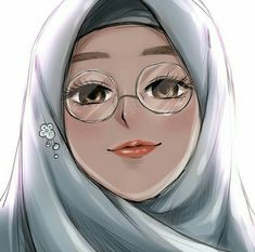 Muslim Girls, Muslim Women, Manga Anime, Anime Art, Hijab Drawing, Anime Muslim, Hijab Cartoon, Drawing Sketches, Drawings