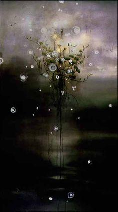 Darren Waterston  Ur-form, 1997 Oil on canvas, 84 x 48 in.