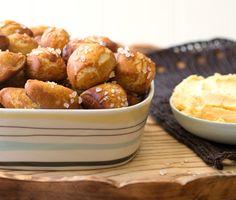 Pretzel Bites with Quick Cheddar Dip Recipe  | Epicurious.com