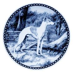 Whippet /Lekven Design Dog Plate 19.5 cm /7.61 inches Made in Denmark NEW with certificate of origin PLATE -7211 * Check this awesome product by going to the link at the image. (This is an affiliate link and I receive a commission for the sales)