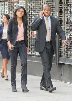 White Collar: Agent Diana Barrigan (Marsha Thomasen) and Agent Clinton Jones (Sharif Atkins)