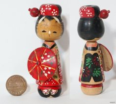 maiko kokeshi | Details about 1950'S JAPANESE KOKESHI DOLL ( MAIKO GEISHA GIRL )