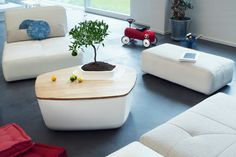 Tables with Built-In Planters by Bellila