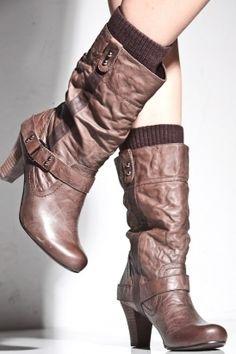 Women's Kendal Leather Boot (Brown)   Report Footwear   80's Purple - StyleSays