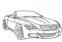 BMW M6 Ausmalbilder
