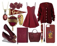 """""""Gryffindor Girl"""" by annabellechristinewren ❤ liked on Polyvore featuring Glamorous, Wet Seal, Michael Valitutti, Tory Burch, women's clothing, women, female, woman, misses and juniors"""