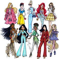 princesas disney modernas - Pesquisa Google