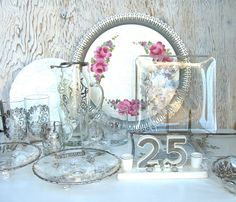 25th Wedding Anniversary Collection Silver by SilverAndBone #silveranniversary #silveroverlay