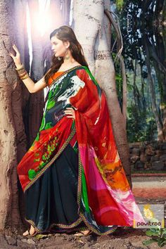 Pavitraa - Modern Printed Sarees  Best Price : 1377