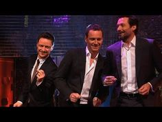 Hugh Jackman, Michael Fassbender & James McAvoy dance to Blurred Lines - The Graham Norton Show - YouTube