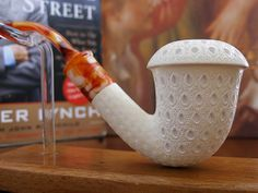 Lattice Calabash Meerschaum Pipe