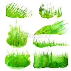 how to draw digital grass