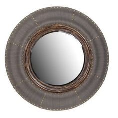 Check out this item at One Kings Lane! Round Conductor Wood Mirror