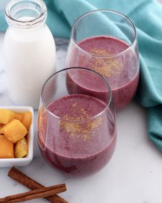 Try this Wild Blueberry Mango Lassi for a refreshing way to #WildYourSmoothie