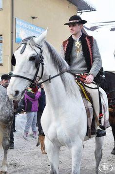 Folk clothing from the region of Podhale, southern Poland [source]. Folk Costume, Costumes, Polish Folk Art, Folk Clothing, My Heritage, Riding Helmets, Southern, Mermaid, Culture
