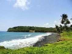 A beach in Cantagalo, São Tomé e Principé.