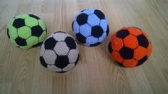 Crocheted by me soccer balls with great support http://www.ravelry.com/patterns/library/easy-crochet-soccer-ball
