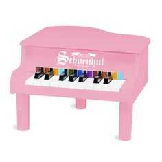 Our smallest pink piano makes a great starter instrument for the youngest among us. A durable, beautiful piano for baby's first introduction to the sound of notes that they can make themselves. This can lead to a lifetime love for music and playing.