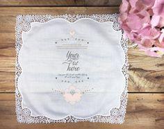 Bespoke personalized min order 20 handkerchief by PrintmadeStudio
