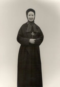 Sister McCart in 1929 in the early style of habit for the Sisters of the Holy Souls
