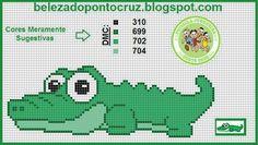 Reptile alligator cross stitch.