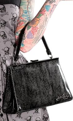 Snake Bettie Page Daphne Purse <3
