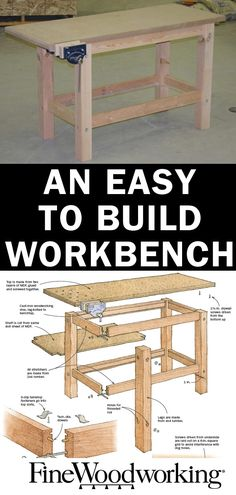 Still don't have a workbench? This plan is easy How to build a sturdy workbench, using just common lumberyard supplies, a drill, and a circular saw.