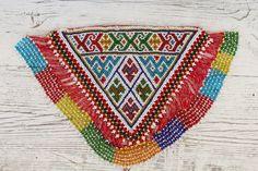 parche  bordado a mano india abalorios cuenta por azulcasinegro