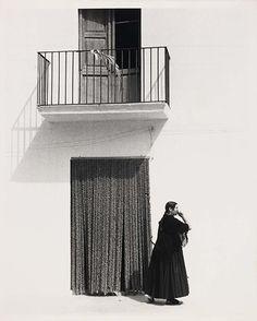 Todd Webb  Ibiza Woman Before Curtain, 1951