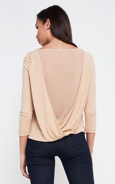 Drapey Back Top ginger   2