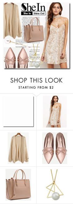 """""""Shein Apricot Crushed Velvet Cami Dress"""" by emmy-124fashions ❤ liked on Polyvore featuring Balmain and shein"""