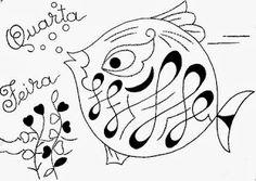 desenho semaninha do peixinho de aquario - quarta- feira