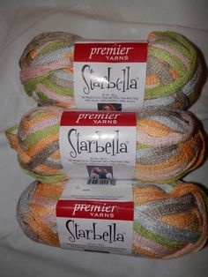 3 Skeins Of Starbella Ruffle Yarn! $12.50 SHIPPED! April Showers #Starbella #Ruffle