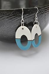 Geometrische oorbellen - Blauw