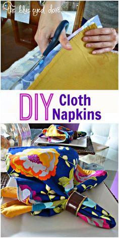 Easy tutorial to make your own Cloth Napkins! theblueeyeddove.com