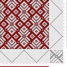 Hand Weaving Draft: Page 32, Figure 4, Christian Morath Pattern Book, 16S, 16T - Handweaving.net Hand Weaving and Draft Archive    #weaving  #fibrearts
