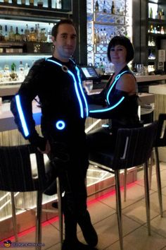 TRON - Homemade costumes for couples (we already DID tron costumes! But I would totally do it again...)