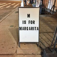 M is for Margarita