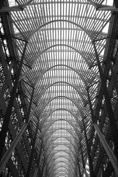 Allen Lambert Galleria, BCE Place, Toronto. Designed by Spanish architect Santiago Calatrava. Photo by Samin Van.