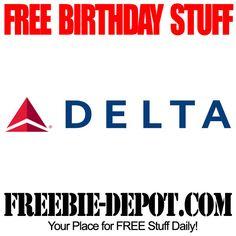 BIRTHDAY FREEBIE – Delta Air Lines - FREE BDay Travel Savings