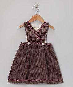 Purple Gingham Surplice Dress