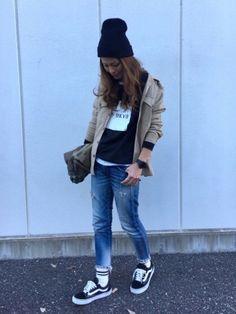 メンズライク♡ UNIQLOワークシャツはSサイズ着てます◡̈♥︎ Instagram...yuko