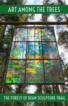 Art among the trees at the Forest of Dean's Sculpture Trail, with 16 nature-inspired sculptures on display in this forest in Gloucestershire, England