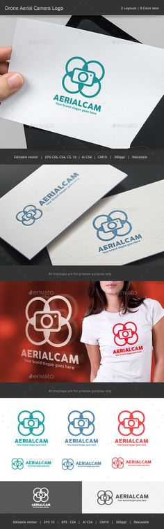 Aerial Camera Drone Logo by WheelieMonkey Files format : EPS 10, EPS CS, EPS CS4, EPS CS6, AI CS4 Color mode : CMYK Resolution : 300PPI Resizable Free used font links