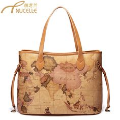 Irises And OrchidsHandbags New Shoulder Bags 2013 Bucket Package With  Leather Handbags Map Shoulder bags 15826913077 5016d543212fb