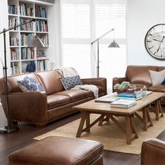 Hermitage range leather sofa with interesting coffee table idea. Cognac Leather Sofa, Best Leather Sofa, Leather Lounge, Leather Sofas, Black Leather, Sofa Design, Interior Design, Interior Ideas, Interior Inspiration